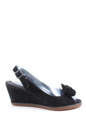 Buffalo London Wedges Sandaletten schwarz Casual-Look