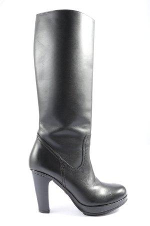 Buffalo London Wide Calf Boots black casual look