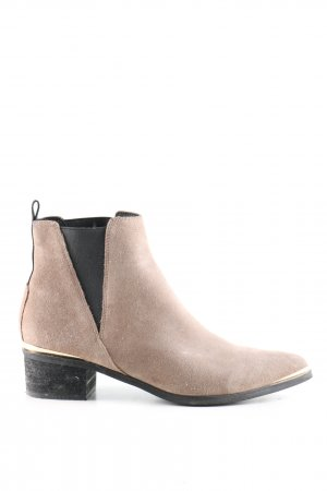 Buffalo London Western-Stiefeletten creme-schwarz Casual-Look