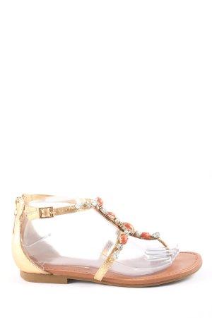 Buffalo London Toe-Post sandals natural white casual look