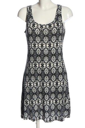 Buffalo Minikleid schwarz-weiß grafisches Muster Casual-Look