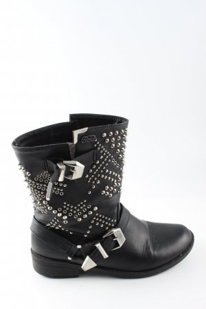 Buffalo Botas moteras negro look casual