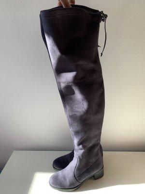 Buffalo Overknee Boots grau