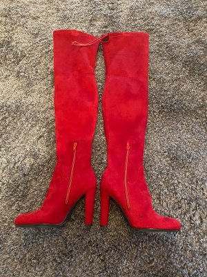 Buffalo Overknees red leather