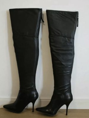 Buffalo London Overknees black leather