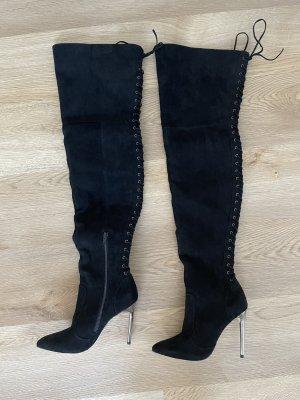 Buffalo Kniehoge laarzen zwart