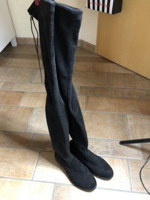 Buffalo Overknees schwarz Gr. 37 sehr lange Stiefel Blogger Neu