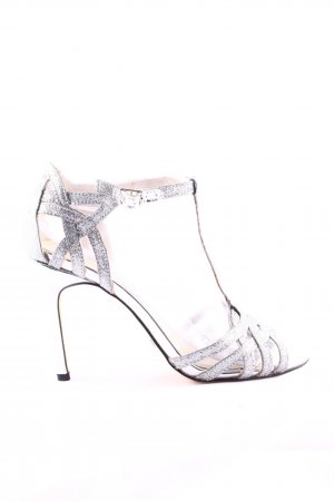 Buffalo Peep Toe Pumps silver-colored elegant