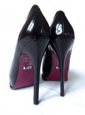 BUFFALO Plateau Pumps High Heels Stilettos Lack Leder black – 36