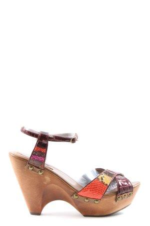 Buffalo Platform Sandals mixed pattern extravagant style
