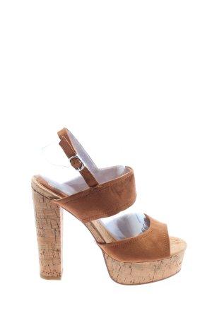 Buffalo High Heel Sandaletten braun Elegant