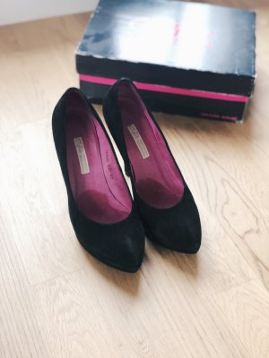 Buffalo Pumps High Heels 39 schwarz Pink Samt Velours