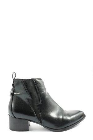 Buffalo Reißverschluss-Stiefeletten schwarz Casual-Look