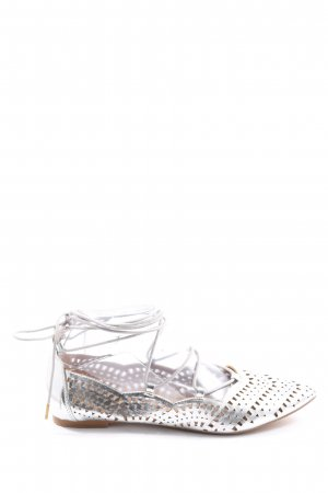 Buffalo Strappy Ballerinas silver-colored elegant