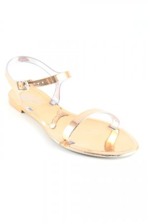 Buffalo Riemchen-Sandalen bronzefarben Casual-Look