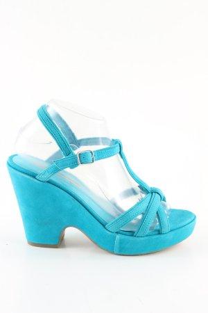 Buffalo Riemchenpumps blau Elegant
