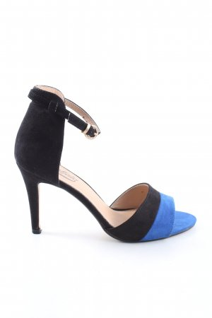 Buffalo Riemchenpumps schwarz-blau Casual-Look