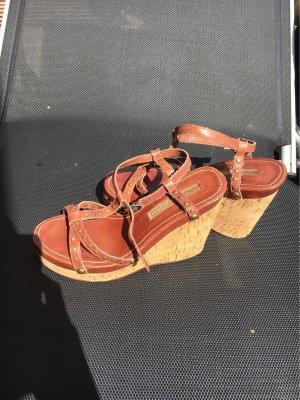 Buffalo Plateauzool Sandalen met Hoge Hakken bruin