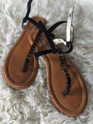 Buffalo London Toe-Post sandals black-brown