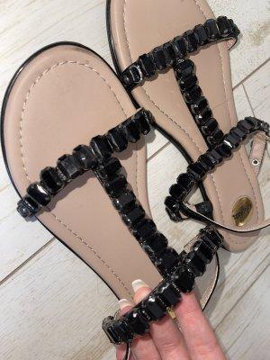Buffalo Outdoor sandalen zwart-beige