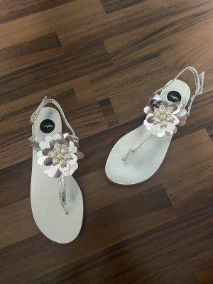 Buffalo Sandalen Damen 38 Silber neu