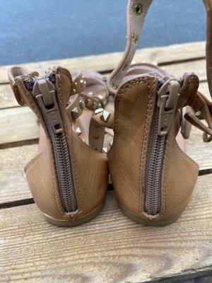 Buffalo London Romeinse sandalen camel Leer