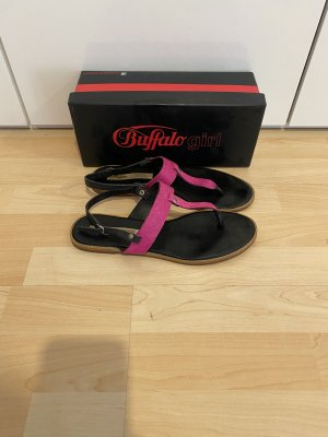 Buffalo girl Sandalias Dianette negro-rosa