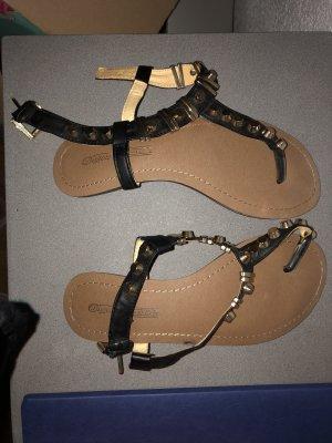 Buffalo Flip-Flop Sandals black-gold-colored