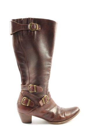 Buffalo Botas estilo militar marrón-color bronce look casual