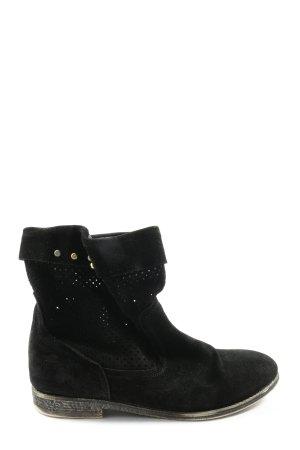 Buffalo Wciągane buty za kostkę czarny W stylu casual
