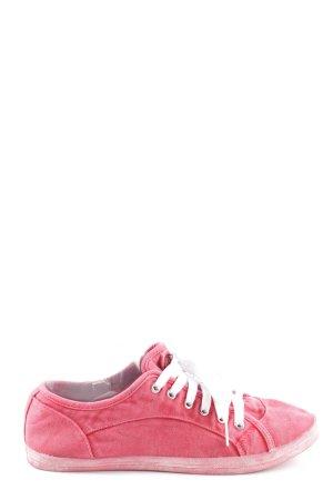 Buffalo Schnürsneaker pink sportlicher Stil