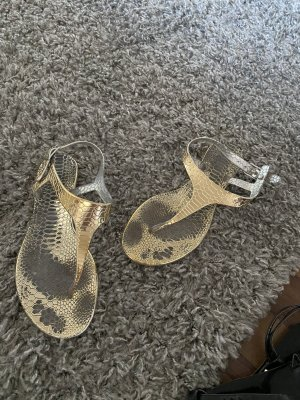 Buffalo Strapped Sandals gold-colored