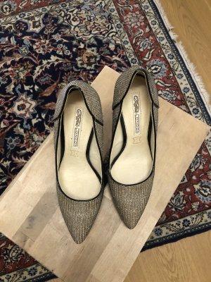 Buffalo Schuhe Gold Glitzer High Heels  gr. 38 ungetragen daher wie neu