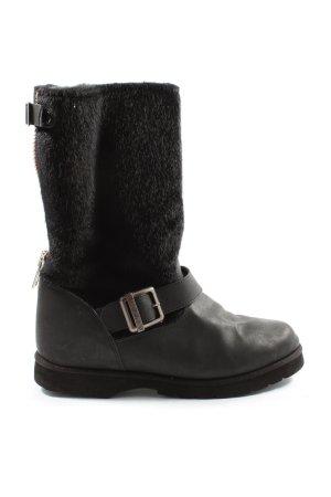 Buffalo Stivaletto arricciato nero stile casual
