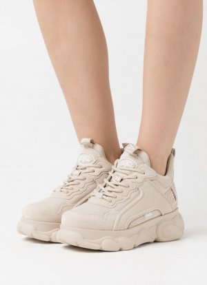 Buffalo Sneakers met hak beige-room