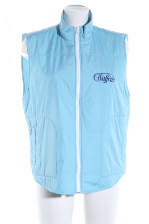 Buffalo Quilted Gilet blue embroidered lettering casual look