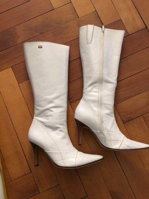 Buffalo London Wysokie buty na obcasie biały