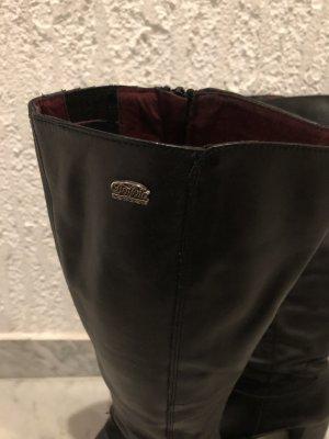 Buffalo Heel Boots black leather