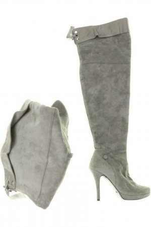 Buffalo Stiefel Damen Boots Gr. DE 37 Leder grau
