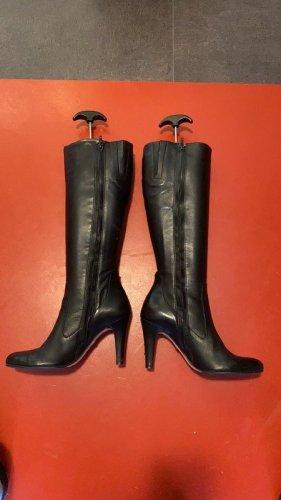 Buffalo, Stiefel, echt Leder schwarz, Größe 37