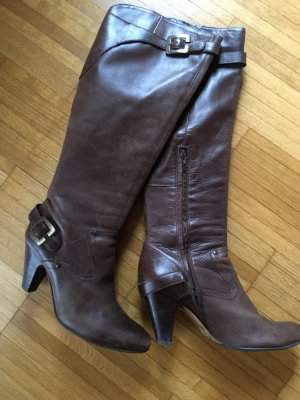 Buffalo Heel Boots brown leather