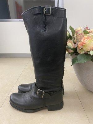 Buffalo Stiefel Lederstiefel reiterstiefel  Boots schwarz in 39