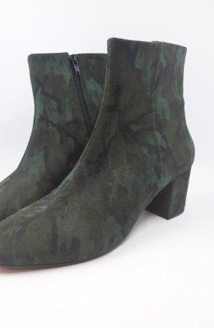 Buffalo Stiefelette Muster grün Army Gr 40