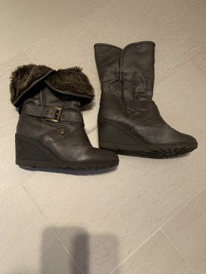 Buffalo Winter Booties grey brown-taupe