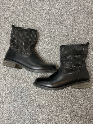 Buffalo Booties black-silver-colored