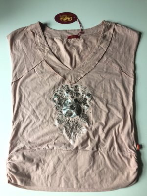 Buffalo T-Shirt altrosa mit Aufdruck silber, Gr. 36, NEU mit Etikett!