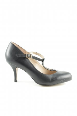 Buffalo T-Steg-Pumps schwarz Business-Look