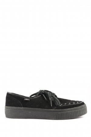 Buffalo Wedge Sneaker black casual look
