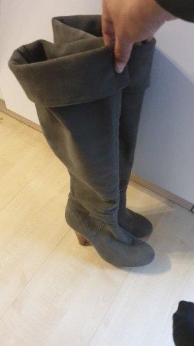 Buffalo Wildleder Stiefel grau 38