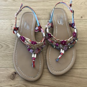 Buffalo T-Strap Sandals multicolored